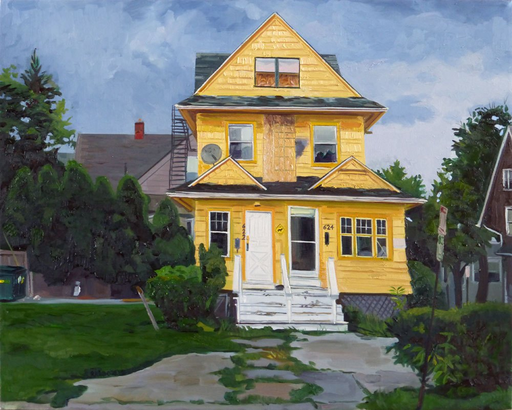 """The Yellow House, 26x30"""", oil/canvas"""