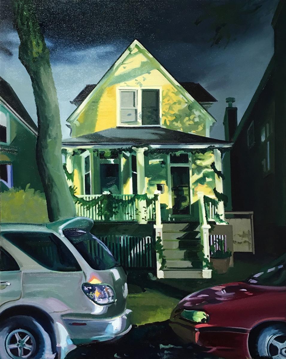 """Exterior Illumination, 28x24"""", oil/canvas"""