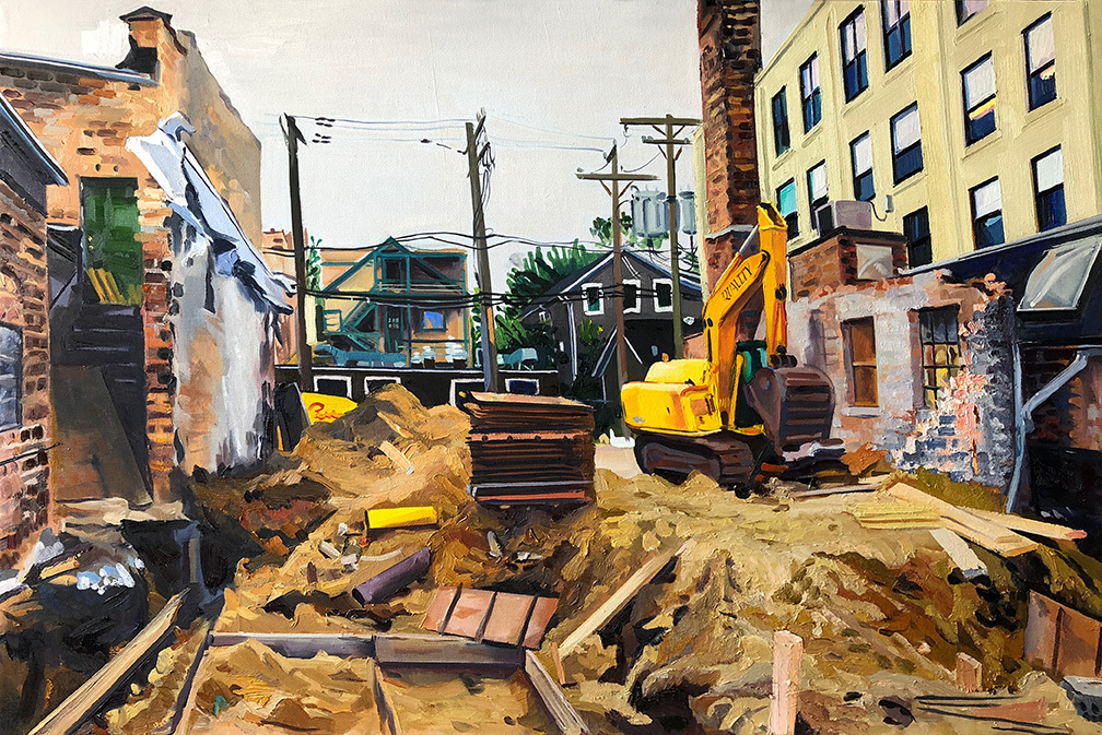 """Ravenswood Office Space Available, 26x40"""", oil/canvas"""