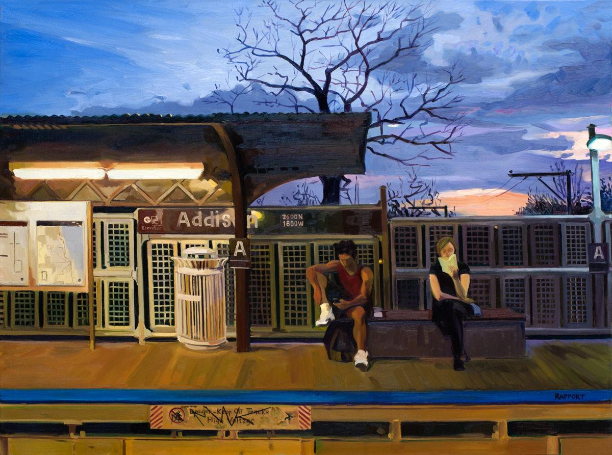"Addison Station, Oil on Canvas, 30x40"""